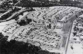 Overview of the Games Village site, 1962.