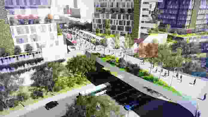 Concept from the Rhodes East Precinct Investigation Area Urban Design Report by Roberts Day.