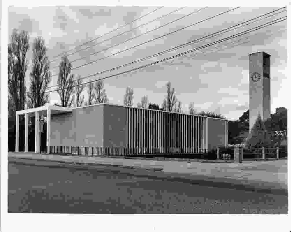Church of the Holy Name in St Peters, SA by Michelmore, Rodger and Russell (c. 1959). The church was commissioned by Father Michael Scott, one of Australia's earliest Catholic priests to advocate for modern architecture.