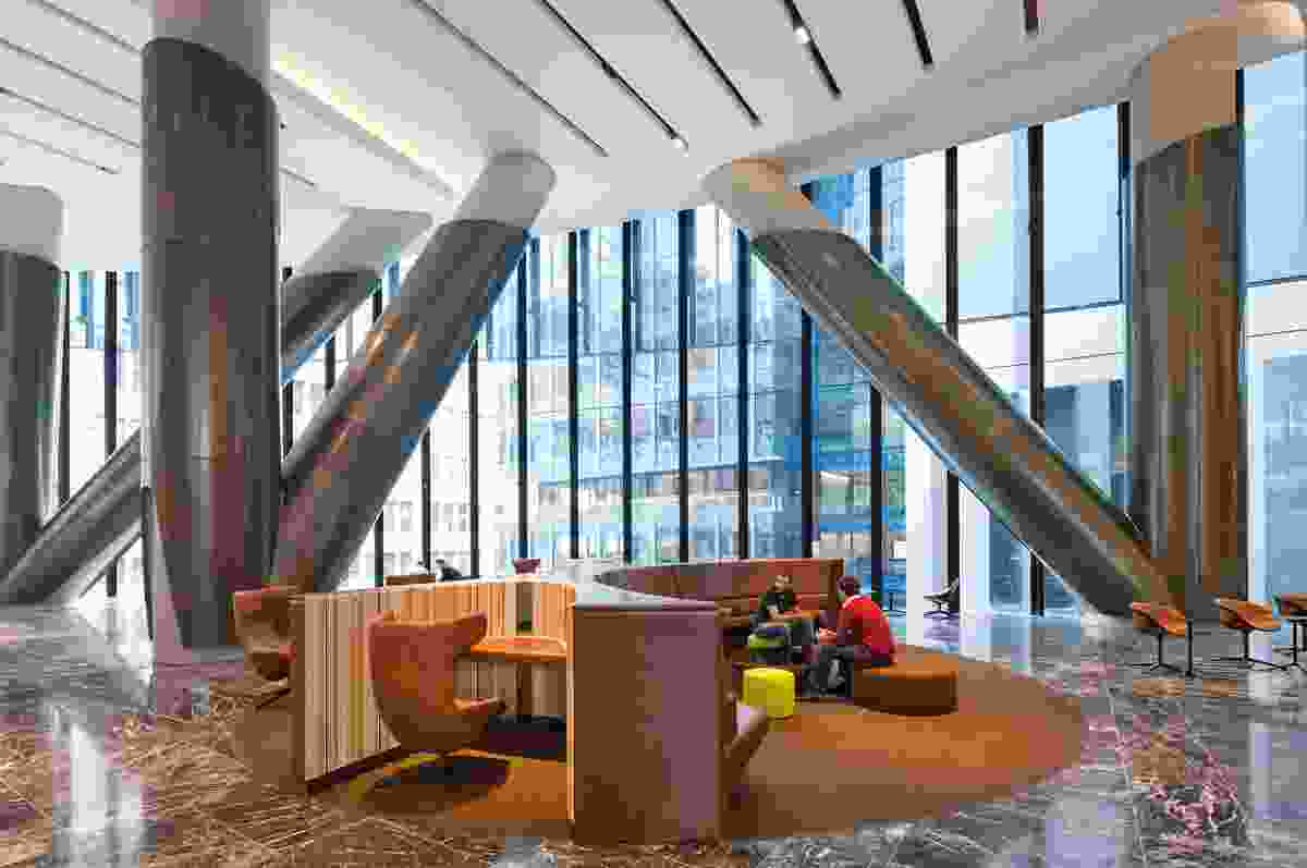 85 Castlereagh St Sky Lobby & Entry by John Wardle Architects and Westfield Design and Construction.