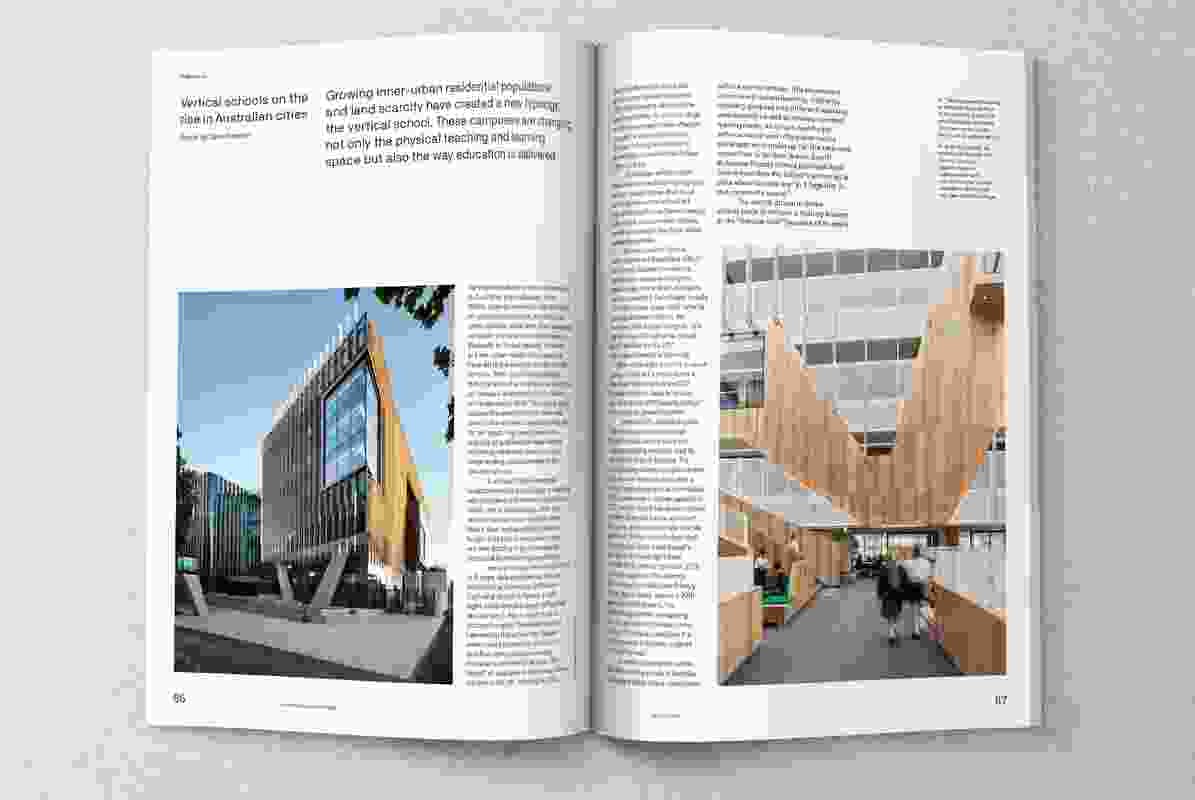 Spread from Architecture Australia September/October 2019.