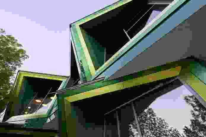 The windows of the Albury Wodonga Regional Cancer Centre designed by Billard Leece Partnership.