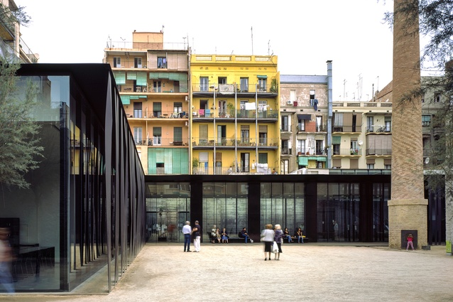 Sant Antoni – Joan Oliver Library, Senior Citizens Center and Cándida Pérez Gardens in  Barcelona, Spain by RCR Arquitectes (2007).