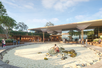 Quandamooka Art, Museum and Performance Institute by Cox Architecture.