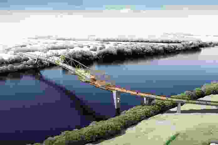 Nepean River Green Bridge, Penrith - Concept Design Vision by KI Studio.