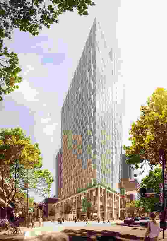 Proposed view from corner of Macquarie Street and Martin Place.