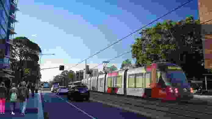 The proposed Sydney CBD and South East Light Rail will run along Anzac Parade through Kensington, terminating in Kingsford.