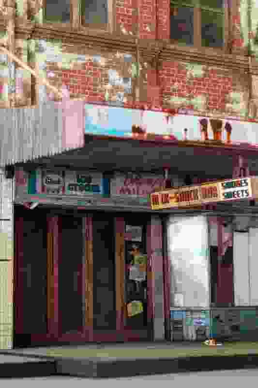 Smiths' model of Olympia Milk Bar on Parramatta Road.