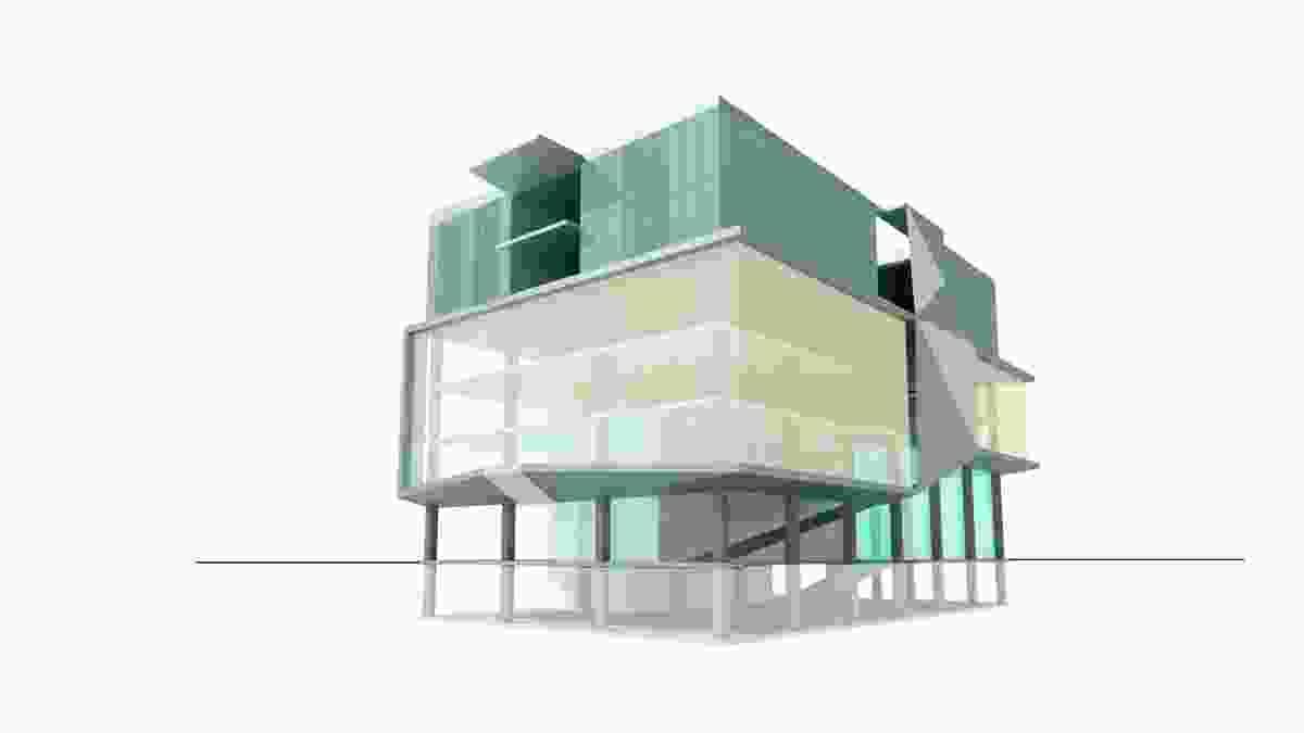 A concept scheme for a mixed-use building.