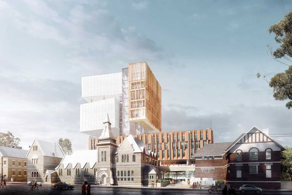 The proposed Inner Sydney High School designed by FJMT.