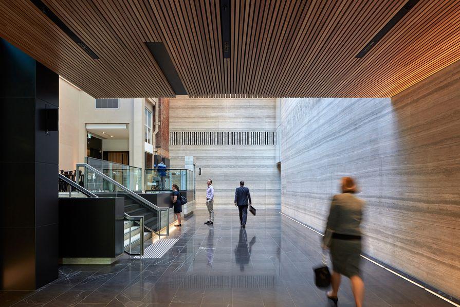259 Queen Street Main Lobby Refurbishment by Cox Architecture.
