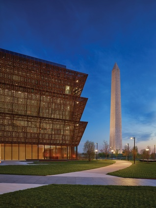 The Smithsonian National Museum of African American History and Culture by Adjaye Associates.