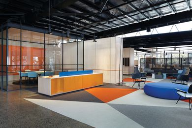 "Kennards self storage head office is ""a series of spaces within a space."""