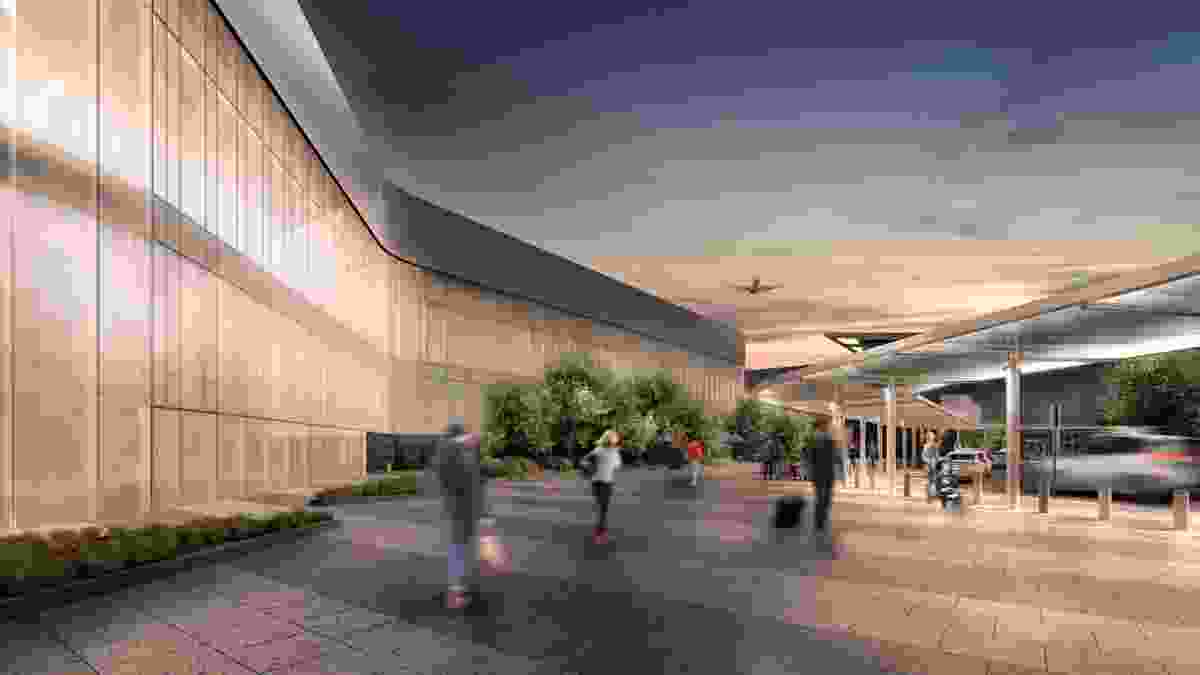 The proposed Adelaide Airport expansion by Hassell.
