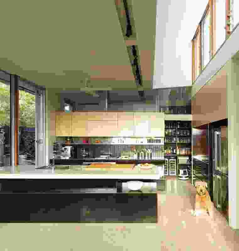 Bronte House (2012): New elements introduce light and air into the long, linear interior.