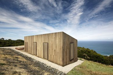 Moonlight Cabin by Jackson Clements Burrows Architects.