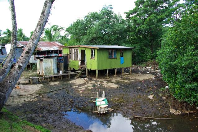 An urban informal settlement in Fiji.