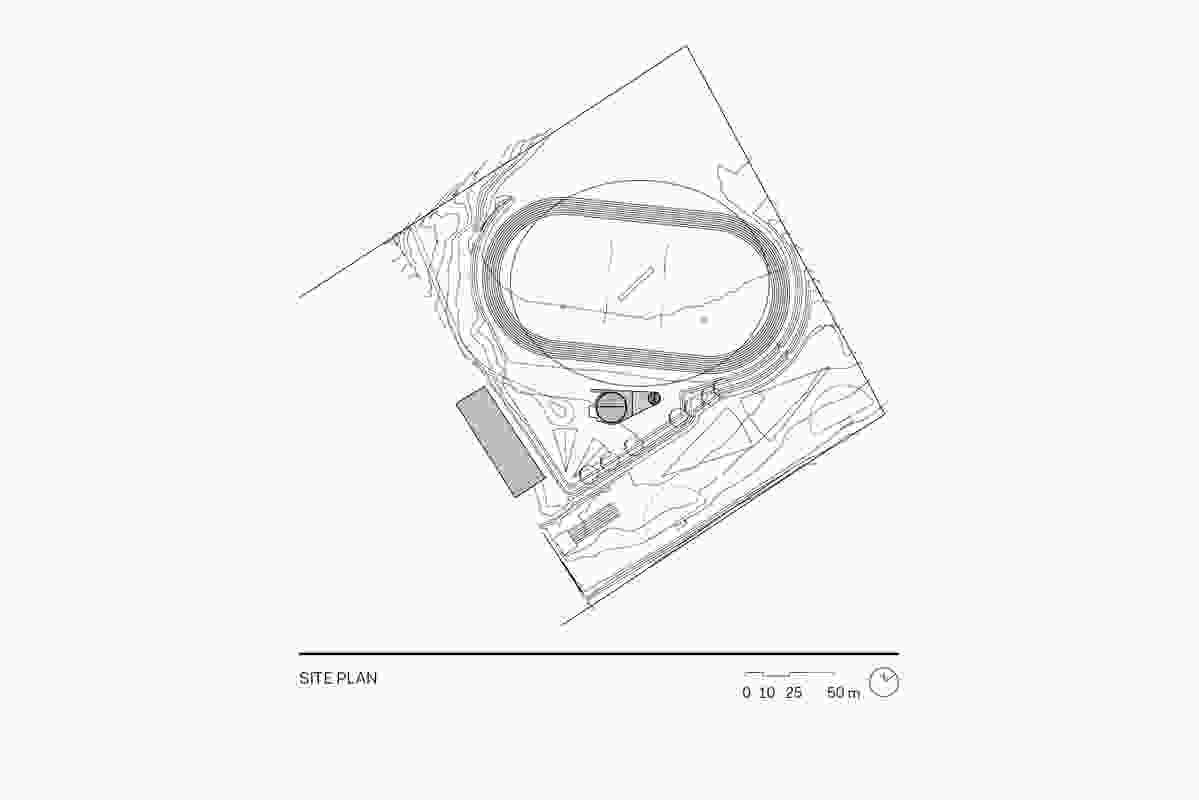 Site plan for Clarence High School Oval Sports Pavilion.