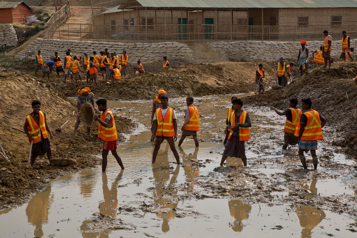 Monsoon preparedness work in Bangladesh.