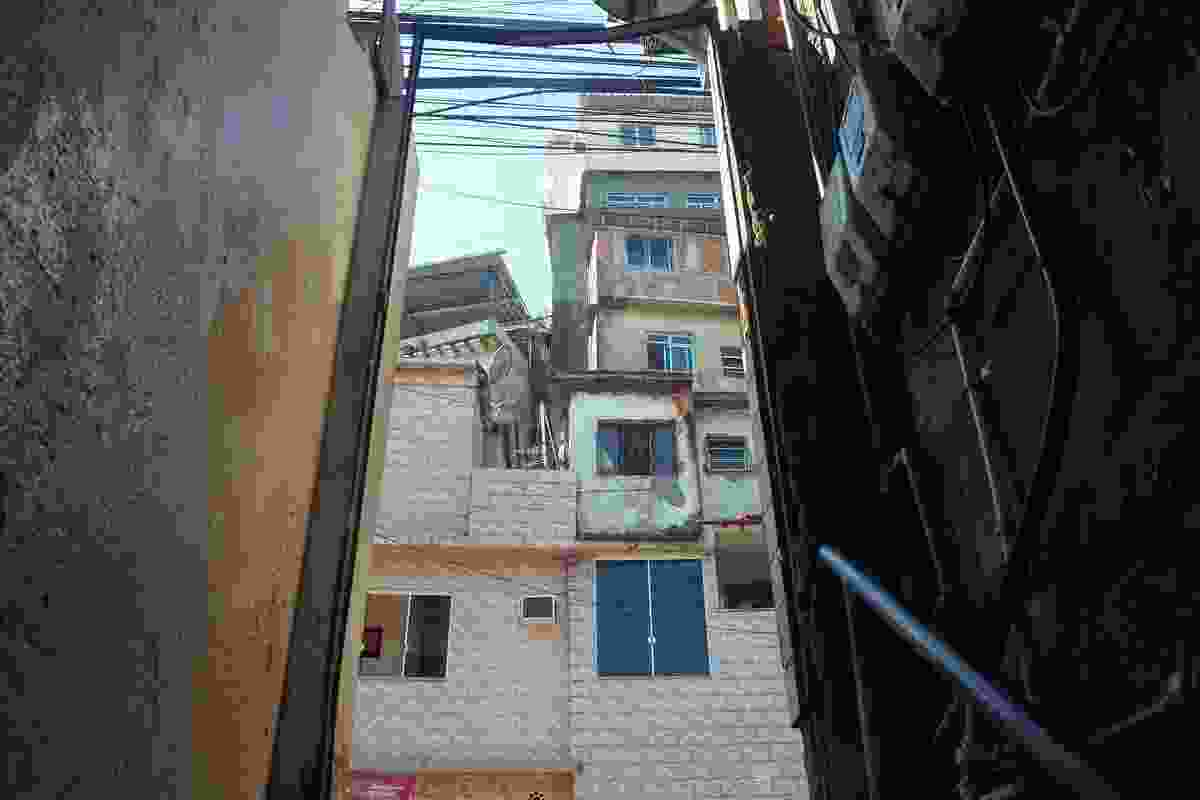 The built fabric of Rocinha is a physical embodiment of the day-to-day requirements of the community. New levels are added to buildings as they are needed.