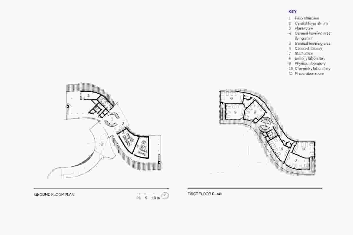 Floor plans of Trinity Anglican School Science Building