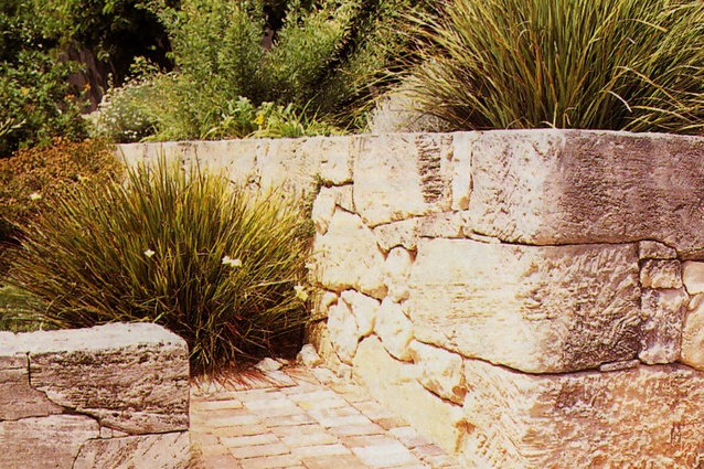 Beautiful limestone walls built by a man from Vaucluse.