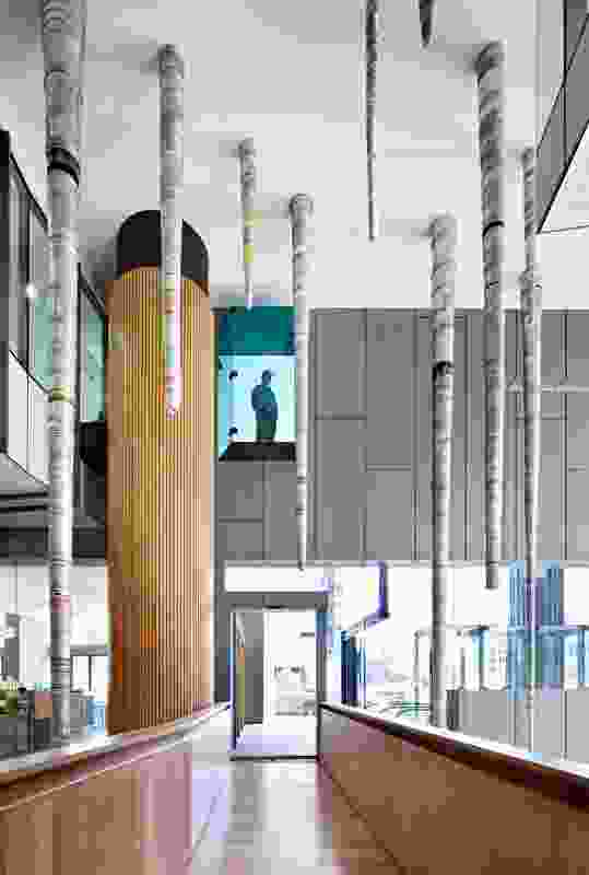 400 George Street Foyer Art and Architecture by Cox Rayner Architects.