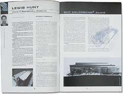 Student Biennale catalogue 2000, showing Lewis Hunt's Cinema of REproduction.