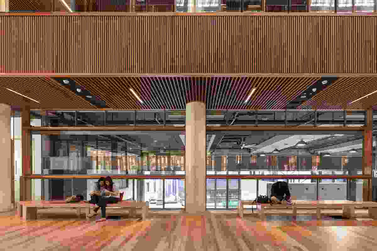 "A central concourse connects the various functions of the building and fosters a notion of ""programmatic congestion."""