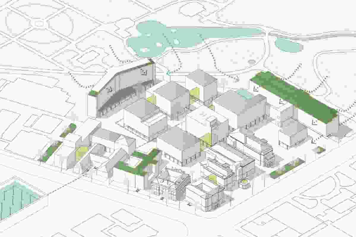 Bondhag & De Rosa (Germany): Circulation and outdoor spaces integrate the site into the wider Riverbank Precinct.