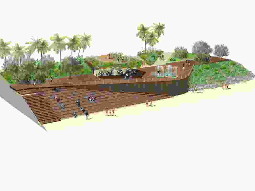 The Kraken boardwalk in the proposed Yeppoon foreshore revitalization by Taylor Cullity Lethlean.