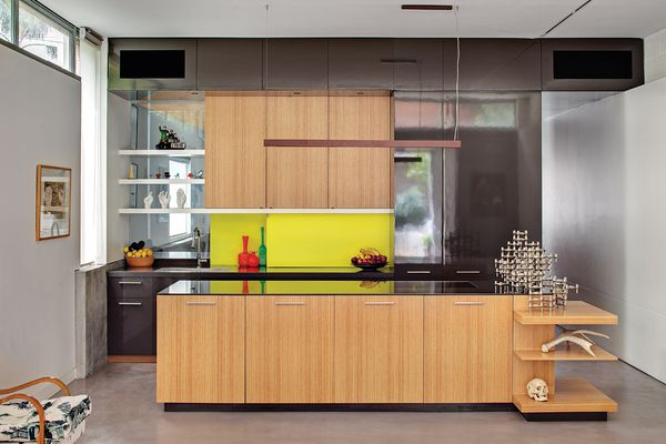 The kitchen of this inner-city terrace house has a charming character, reflective of the clients' personalities.