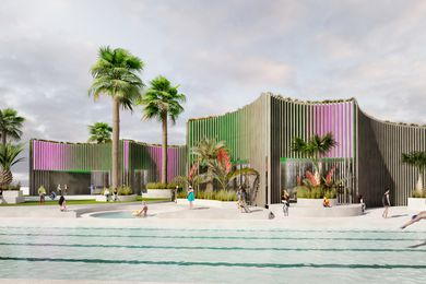 The Port Melbourne pool proposal by Wowowa Architecture and Andre Bonnice.
