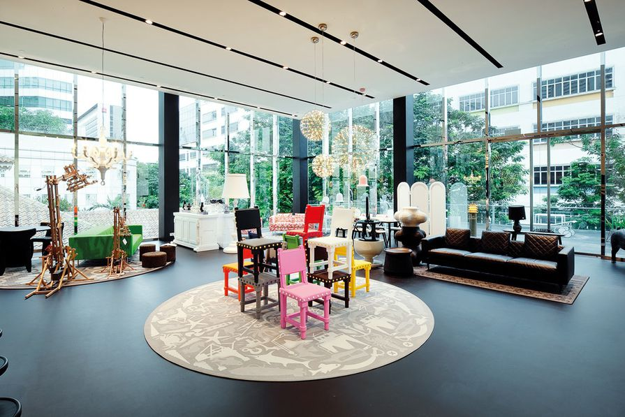 Moooi section at Space Asia Hub.