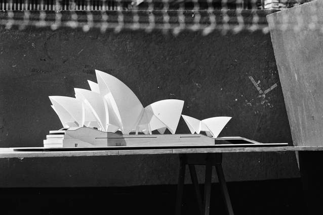 A model of the Sydney Opera House.