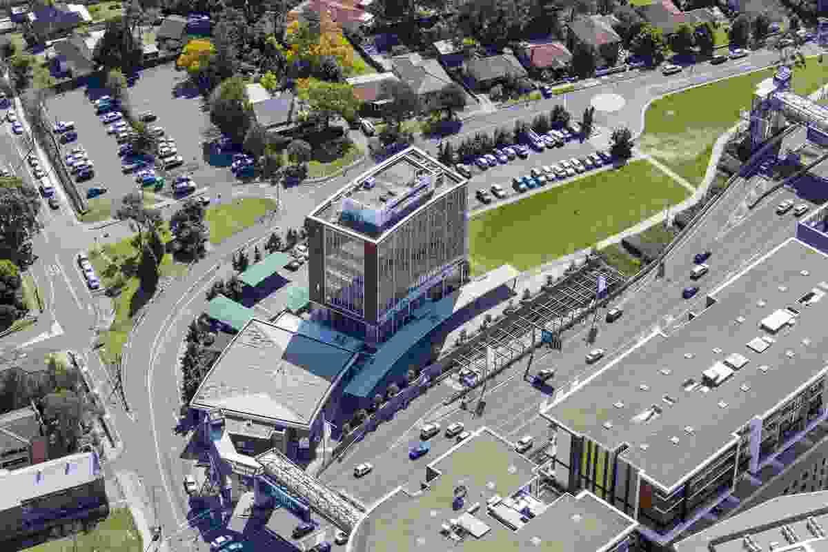 Aerial view of the Ryde civic hub site.