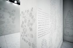 Detail of the exquisite pencil drawings that covered the interior of the Japanese Pavilion, curated by Junya Ishigami.Image: John Gollings