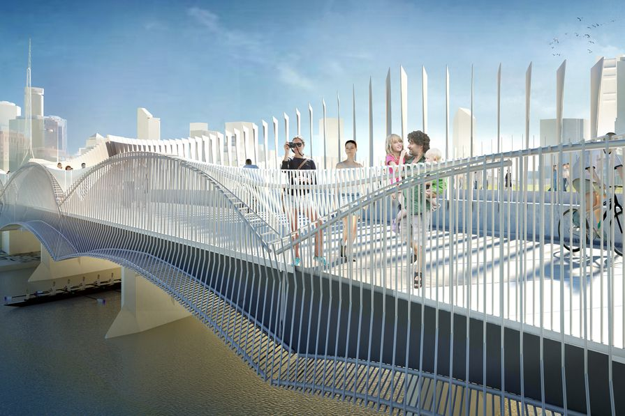 Design for Swan Street Bridge upgrade by John Wardle Architects.