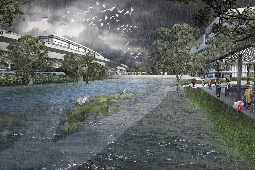 The proposed Macaulay Terraces in the Moonee Ponds Creek Strategic Opportunities Plan.