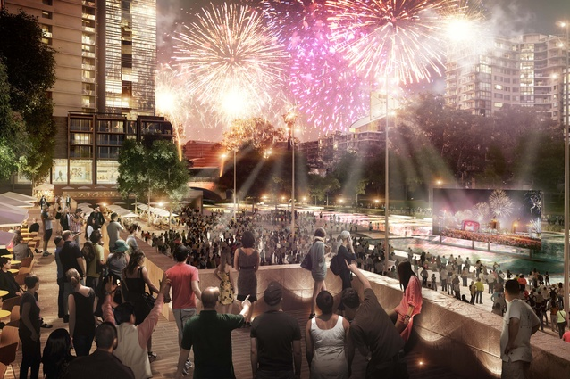 River Square will be designed to hold up to 10,000 people for significant public events such as New Years celebrations.
