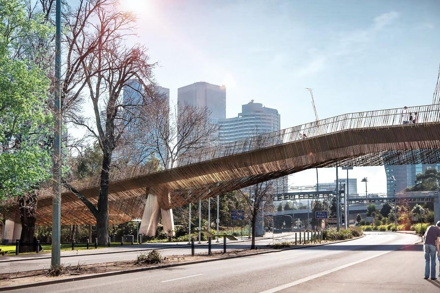 Batman Avenue Bridge by John Wardle Architects in collaboration with NADAAA and Oculus Landscape Architects