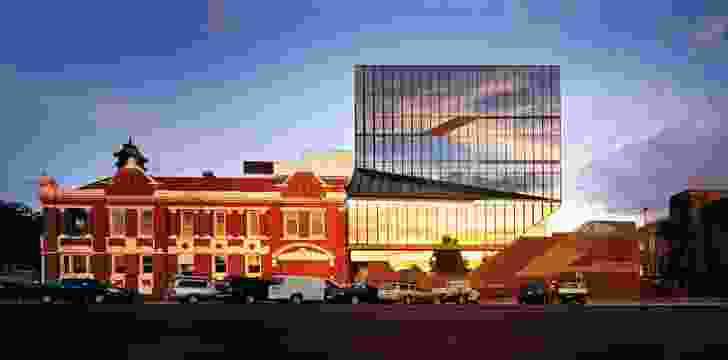 Locally manufactured brown brick at the base of the addition is a contemporary interpretation of Ballarat's red brick architecture.