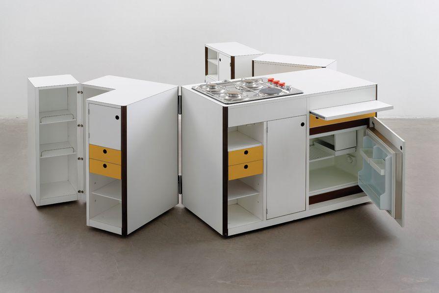 Virgilio Forchiassin, Living Space Mobile  Kitchen Unit, 1968.