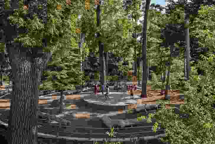 Gathering Place in Tulsa, Oklahoma offers the city's residents green space in the form of an immensely scaled public park.