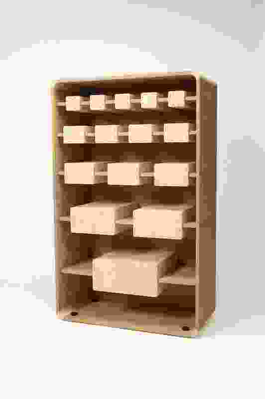 LKBP furniture consists of a chest of drawers with shelves hidden in the back.