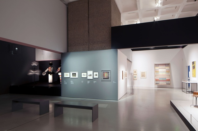 The concrete gallery space was a perfect backdrop for these exhibits.