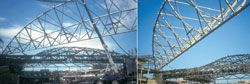 Roof structure of the Brisbane Convention Centre. Photographs Arup.