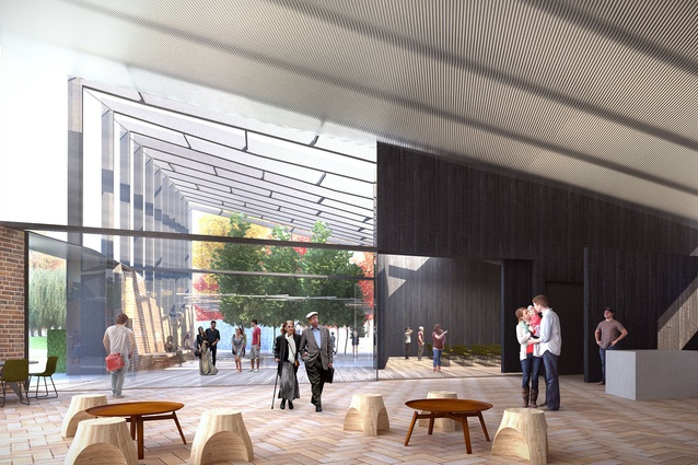 The Southern Highlands Botanic Gardens visitor centre by John Wardle Architects will feature a gallery, a cafe and a hall in the centre.