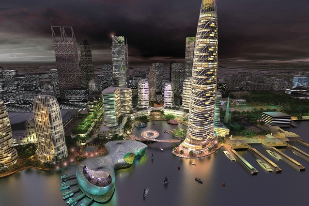 In Melbourne firm Ashton Raggatt McDougall's (ARM) bold vision for Perth, the esplanade would be a highrise precinct where the river would be enfolded into an excavated circular inlet.