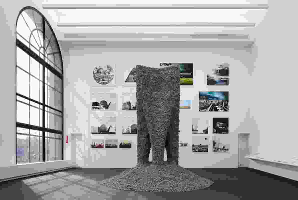 Rock Print by Gramazio Kohler Research, ETH Zurich (Zurich, Switzerland) + Self-Assembly Lab, MIT, Chicago Architecture Biennial 2015.